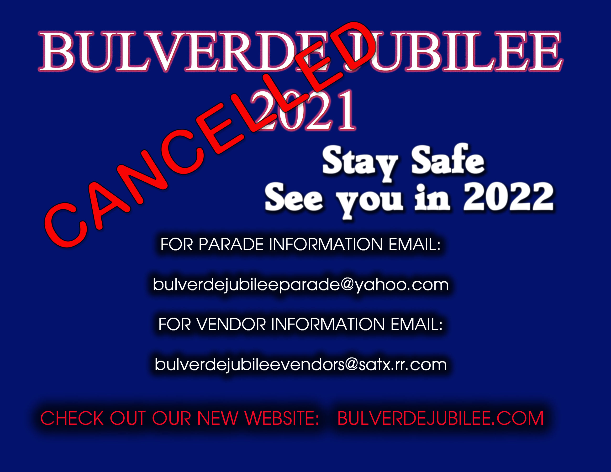 jubilee 2021 cancelled